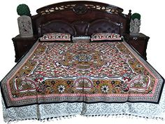 Mogul Art Inspired Bedspread Indian Home Decor Cotton Floral Printed Bed Cover Mogul Interior http://www.amazon.com/dp/B00RCKV6J0/ref=cm_sw_r_pi_dp_HGuMub09NJJG7