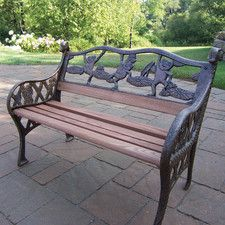 Bon Frog Kiddy Wood And Cast Iron Park Bench