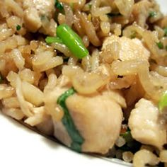 Fried Rice w/ Cilantro - This recipe tastes more like a Thai Fried Rice than a traditional Chinese Fried Rice... I throw some ground turkey or diced chicken in it sometimes too for a complete meal. Easy & really good! :)