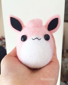 Needle Felted Wigglytuff Plush - Pokemon Plush, Kawaii Plush, Wool Felt Plush, Felt Wigglytuff, Felt Pokemon, Mini Plushie, Chibi Plush by TamashiOhana on Etsy https://www.etsy.com/listing/230714102/needle-felted-wigglytuff-plush-pokemon