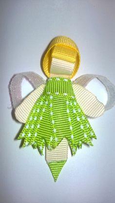 Tinkerbell Inspired Hair Clip - Disney Inspired Princess Hair Clip