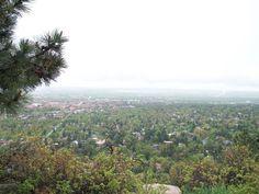 Looking down on Boulder, Colorado