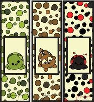 ladybug corner bookmark cards printables on black digital 2301