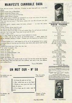 """""""Manifeste Cannibale Dada"""", Dada, n°7, 1920, page 2."""