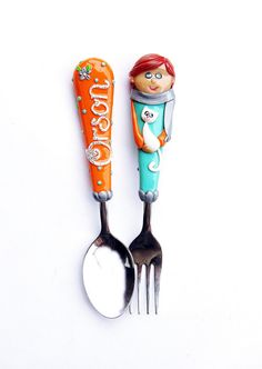 Planes Personalized Gift Cutlery Set Boy Spoon by RadArtaDesign ...