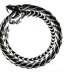 Ouroboros (ou oroboro ou ainda uróboro) é um símbolo representado por uma serpente, ou um dragão, que morde a própria cauda. É um símbolo para a eternidade. Está relacionado com a alquimia, que é por vezes representado como dois animais míticos, mordendo a cauda um ao outro.. É possível que o símbolo matemático de infinito tenha tido sua origem a partir desta imagem.