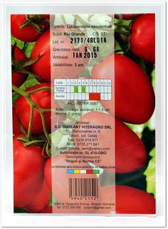 Seminte tomate DIAPLANT. Vegetables, Food, Hoods, Vegetable Recipes, Meals, Veggies