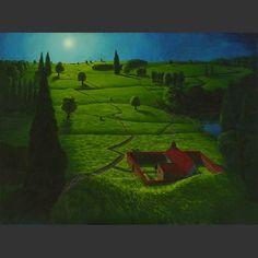Mijn schilderij. Tsjechisch landschap.