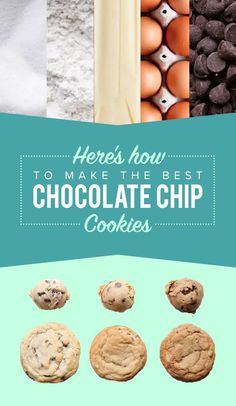 How to make the best chocolate chip cookies of your life via: Tasty Chip Cookie Recipe, Cookie Recipes, Dessert Recipes, Dessert Ideas, Perfect Chocolate Chip Cookies, Butter Chocolate Chip Cookies, Chocolate Chips, Brownies, Biscuits