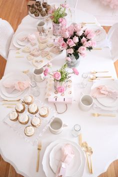 Guest tabletop from a Sweet and Elegant Valentine's Day Party on Kara's Party Ideas | KarasPartyIdeas.com (8)