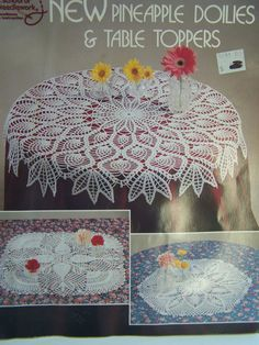 Vintage Crochet Pattern Book Pineapple Doilies by WitsEndDesign, $3.00