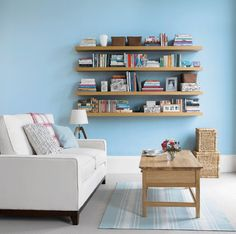 6 Incredible Examples of Shelving in Small Spaces:  Floating Bookshelves