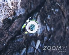hand-made 925 sterling silver ring with peridot (or blue topaz)