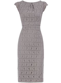 Grey lace pencil dress-I can't wait to fit back into cute clothes :)