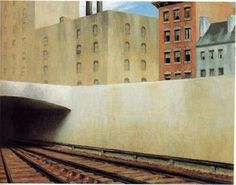 Acercarse a una ciudad. Edward Hopper, 1946. The Phillips Collection. American Art. Washington, DC. Estados Unidos.