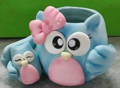 Porcelana fría Cute Polymer Clay, Polymer Clay Projects, Polymer Clay Charms, Diy Clay, Cute Crafts, Diy And Crafts, Arts And Crafts, Clay Pen, Pot A Crayon