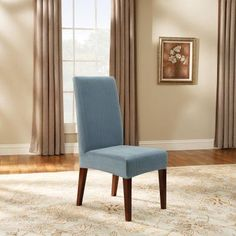 Sure Fit Soft Suede Shorty Dining Room Chair Slipcover Sure Fit Soft Suede Short Dining Room Chair Covers  38636