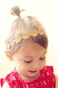 Gold Boho Headband by georgiaandjane on Etsy, $12.95