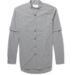 Public School - Double-Layered Gingham Cotton Shirt