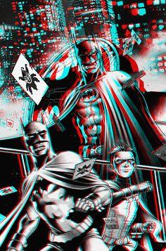 Cyan Batman | Batman Black and White in 3D by xmancyclops on deviantART