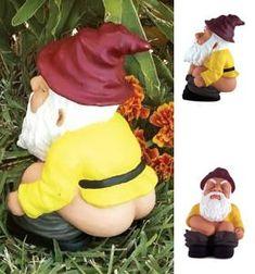Funny Garden Gnomes | Funny Garden Gnomes - The Squatting Gnome | Shop entertainment ...