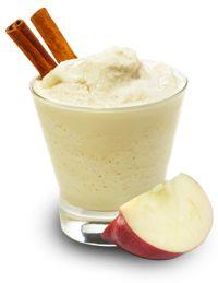 Apple Pie Protein Shake + Banana Nut Protein Shake. Ingredients:     •  1 Scoop Vanilla Whey Protein (110)     •  1 Apple (95)     •  1/4 Cup Vanilla Greek Yogurt (40)     •  Cinnamon     •  Water/Ice             Nutrition:     245 calories, 30 g protein