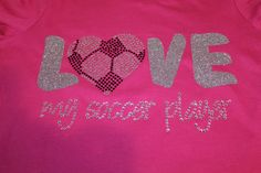 LOVE my soccer player glitter and bling design by SpunkySparkles, $27.00