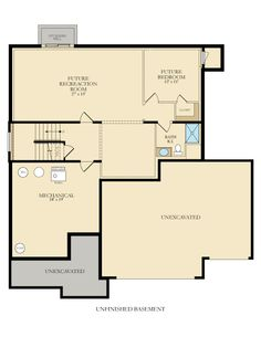 Look At All That Space To Work With In The Wabasha Lower Level Floor Plans Lennar Unfinished Basement
