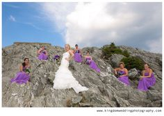 bridal party on the rocks! by Kingdom Wedding Photography