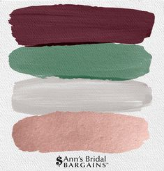 The Perfect Palette: Burgundy, Fern, Gray and Rose Gold. - The Perfect Palette: Burgundy, Fern, Gray and Rose Gold. Green And Burgundy Wedding, Olive Green Weddings, Gold Wedding Colors, Winter Wedding Colors, Wedding Color Schemes, Fall Wedding, Wedding Themes, Rustic Wedding, Rose Wedding