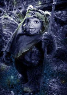 My ewok in her favorite carnival costume!