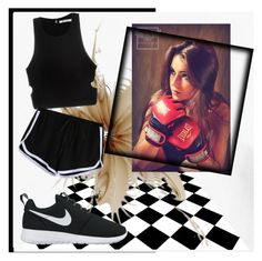 """""""beat the dark"""" by wendy-737 ❤ liked on Polyvore featuring T By Alexander Wang and NIKE"""