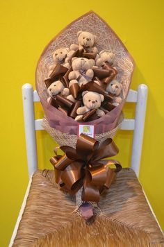Brown Themed Bear Bouquet #bearbouquet #bouquetofbears #bears #arts #crafts #gifts #giftshop #online #giftideas #fgdavao www.FGDavao.com
