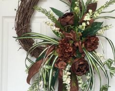 Everyday Brown and Beige Round Grapevine Wreath