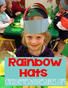 Rainbow Hat (from Creative Preschool Resources)