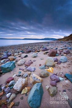 Woodstown Beach, Ireland  I gotta go there and bring those rocks home!!!!