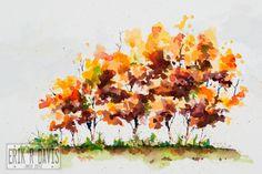 watercolor trees - Cerca con Google