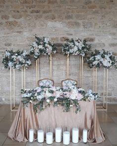Bridal Table Decorations, Backdrop Decorations, Decoration Table, Wedding Centerpieces, Wedding Mood Board, Wedding Table, Sweetheart Table Backdrop, Dream Wedding, Wedding Day