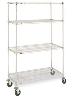 Metro Mobile Stainless Steel Shelving Is Ideal For Cold Rooms,clean Rooms  And Laboratories Requiring Excellent Corrosion Resistance.