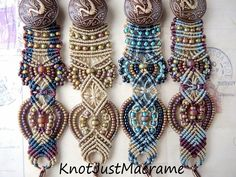 Very nice variation of the same pattern:  Knot Just Macrame by Sherri Stokey: A Micro Macrame Fairy Tale