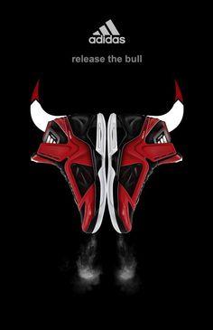 Derrick Rose Adidas Adizero Shoes basketball graphic design sports branding chicago bulls logo