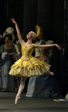 Skylar Brandt as Fairy of the Songbird in the prologue from Alexei Ratmansky's Sleeping Beauty, American Ballet Theatre. Photo by Gene Schiavone