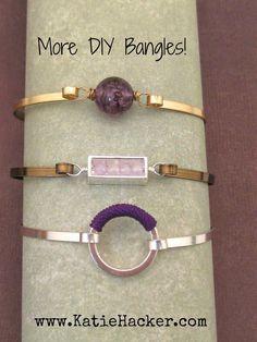 Katie's Beading Blog: DIY Bangle Bracelets and More #jewelrytutorials
