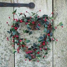 Our heart wreath with lights is dotted with berries and warm white LEDs. Looks great hung on the door or on an internal wall. Shop our Christmas range today. Funny Valentine, Valentine Day Wreaths, Valentine Heart, Buy Christmas Tree, Christmas Hearts, All Things Christmas, Christmas 2017, Homemade Christmas, Wreaths