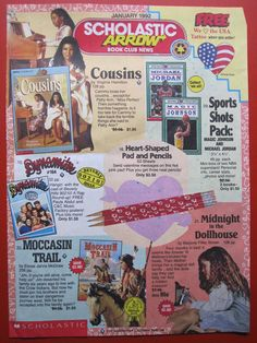 Scholastic books from the 90s