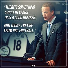 Peyton Manning retires. When you look in the mirror, you see the #81 ❤️