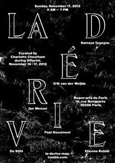 La Dérive poster by Pierre Vanni