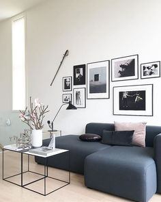 Gallery wall, living room decor inspiration. Are you looking for unique and beautiful black and white or color art photo prints to create your gallery walls? Visit bx3foto.etsy.com and follow us on Instagram @bx3foto