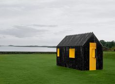 white arkitekter chameleon cabin designboom