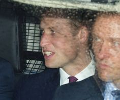 Prince William: Prince William arrived separately from his wife.